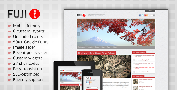 Fuji - Theme Responsive Estilo Japonés para WordPress