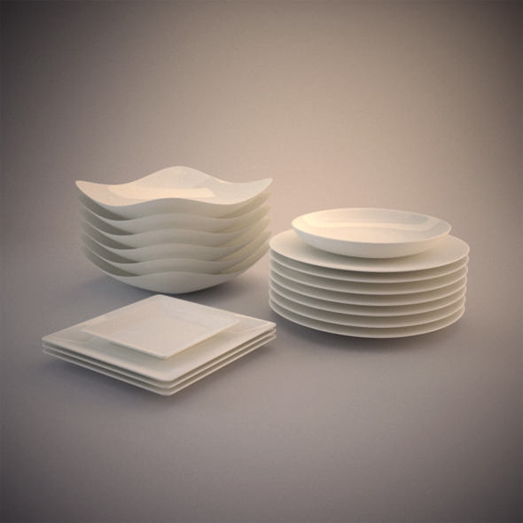 3DOcean 6 Photorealistics Ceramic dishes 2938863