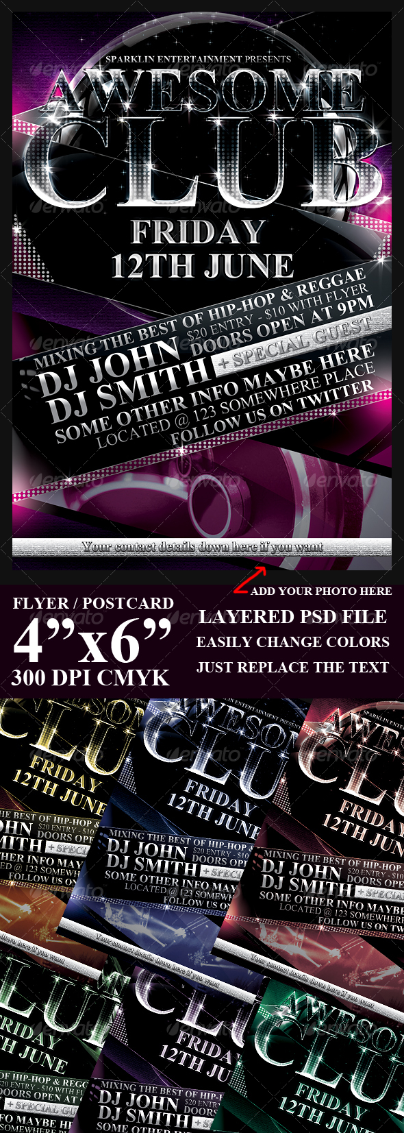 Modern Event Flyer Template - Clubs & Parties Events