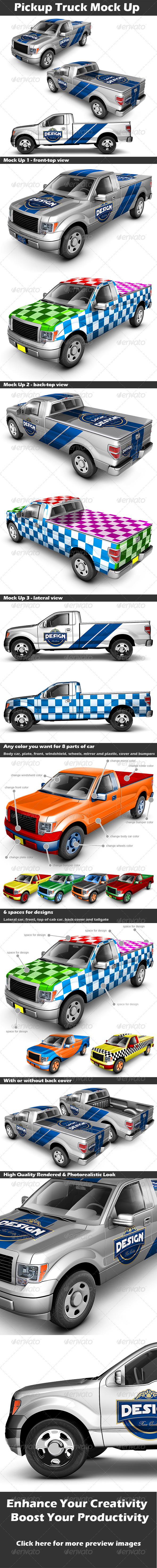 GraphicRiver Pickup Truck Mock Up 2939007