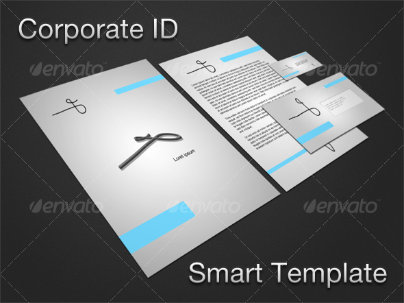Corporate ID Smart Template - Stationery Print