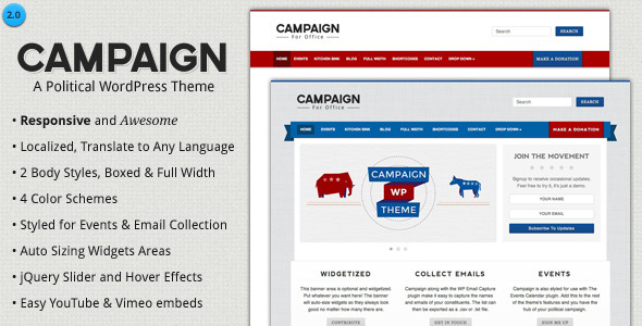 ThemeForest Campaign Political WordPress Theme 1720374