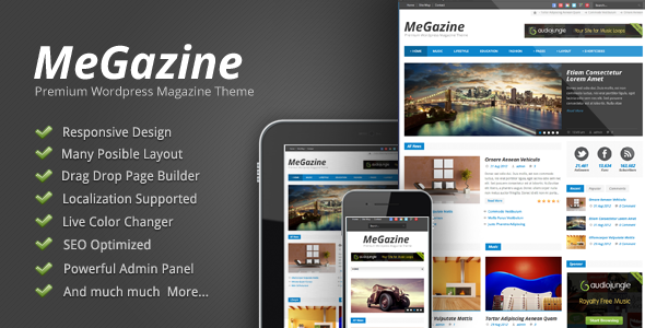 Megazine -  Theme Responsive de Blog/Magazine para WordPress