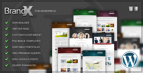 Brand X - Premium Wordpress Theme