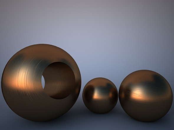 3DOcean Scratched Bronze Material for Vray 2941503