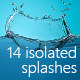 14 Isolated Splashes - GraphicRiver Item for Sale