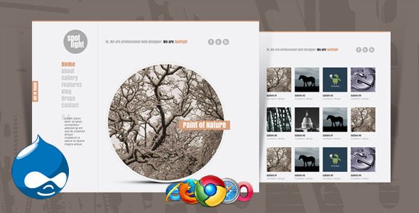 ThemeForest Spotlight Clean & Minimal Drupal Theme 2942055