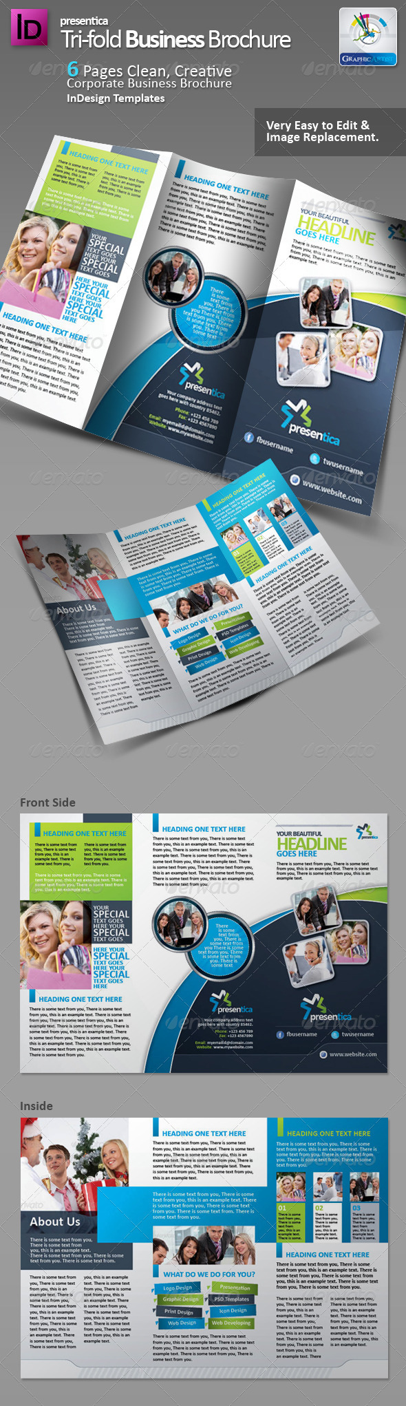 GraphicRiver Presentica Tri-fold Corporate Brochure 2942163