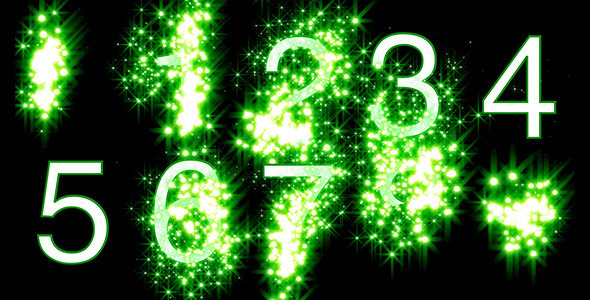Numbers Revealed by Stars Green Style