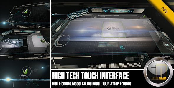 VideoHive High Tech Touch Interface 2942915