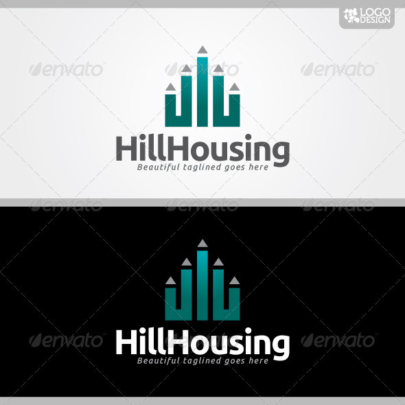 Hill Housing - Buildings Logo Templates