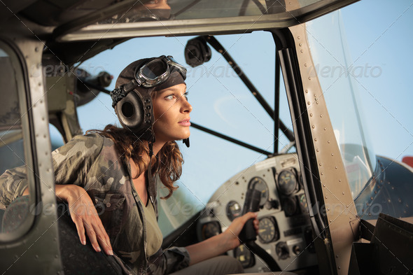 Aviator female - Stock Photo - Images