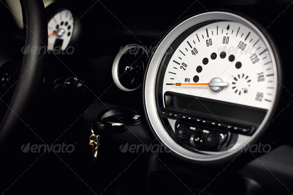 Sportscar Speedometer - Stock Photo - Images