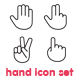 Hand Icon Set (20 Vector hands) - GraphicRiver Item for Sale