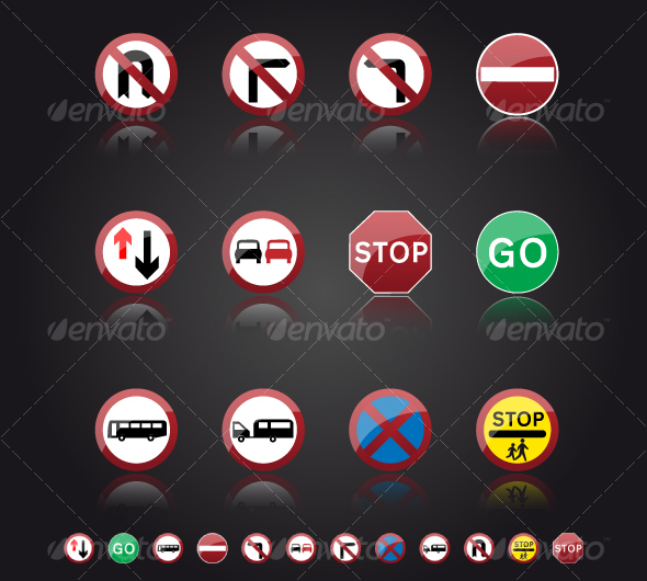 GraphicRiver UK Road Signs Giving Orders 105297