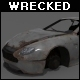 Wrecked Aston Martin DB7