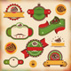 Set Of Vintage Pizza Labels - GraphicRiver Item for Sale