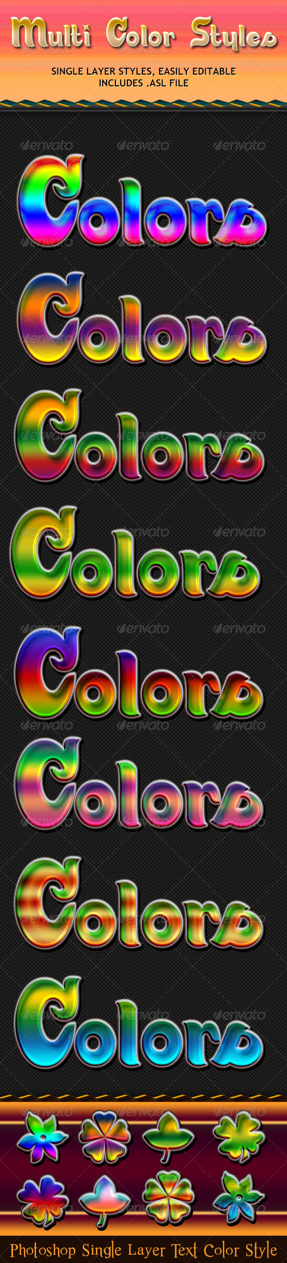 Multi Color Styles - Text Effects Styles