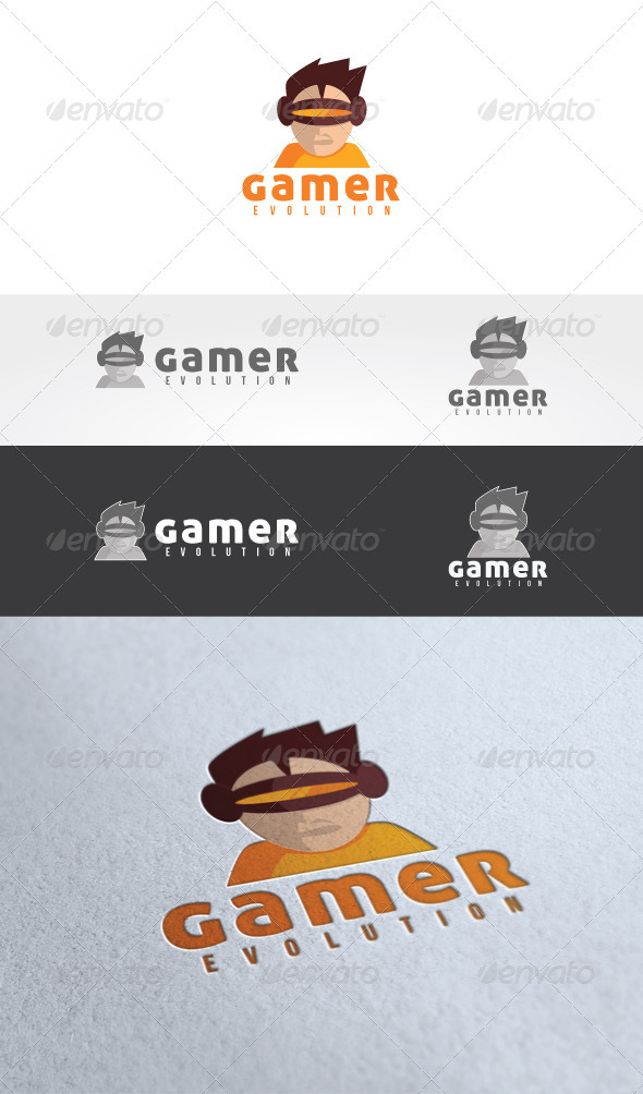 Gamer Evolution Logo Templates - Humans Logo Templates