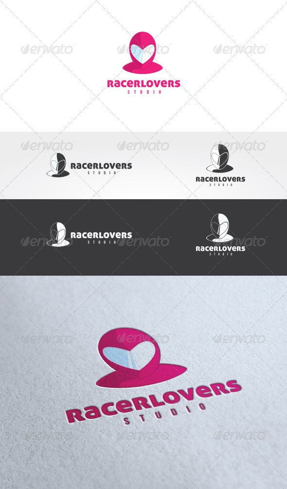 Racer Lovers Logo Template