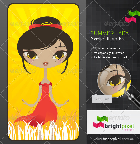 Summer Lady Illustration - People Characters