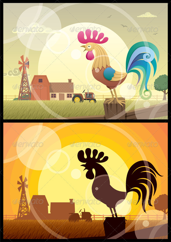 GraphicRiver Rooster Crowing 277224