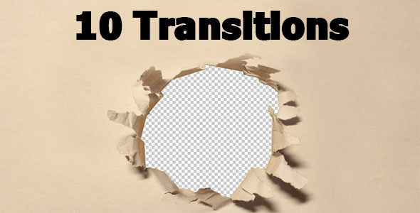 Paper Transitions 10-pack With Alpha Channel
