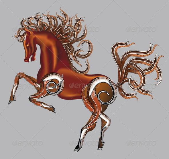 Horse Fantasy Vector