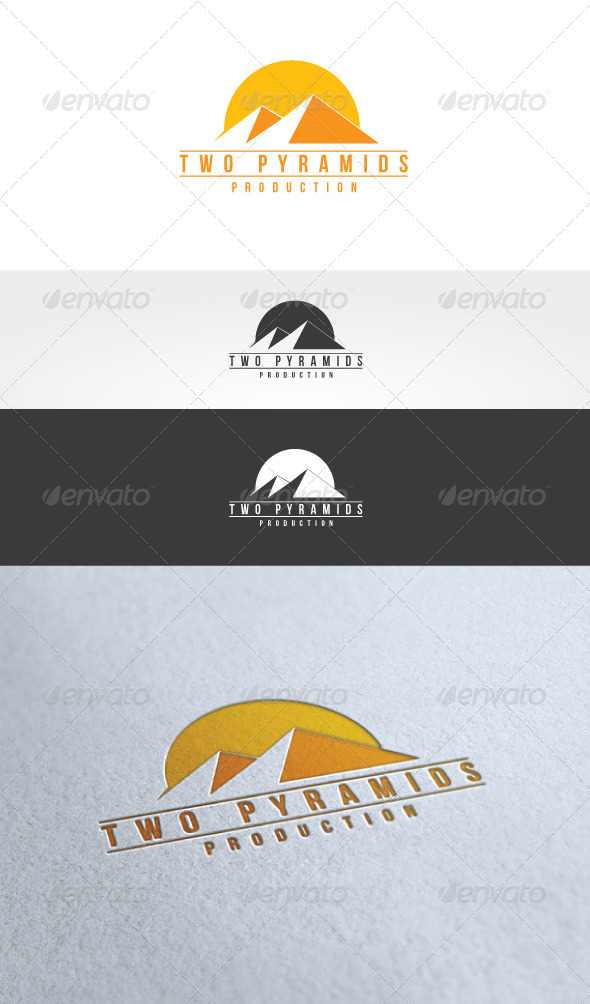 Two Pyramids Logo Template - Buildings Logo Templates