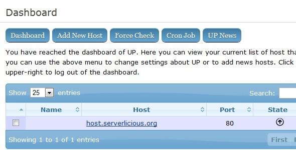 CodeCanyon UP Service Monitoring System 2630620
