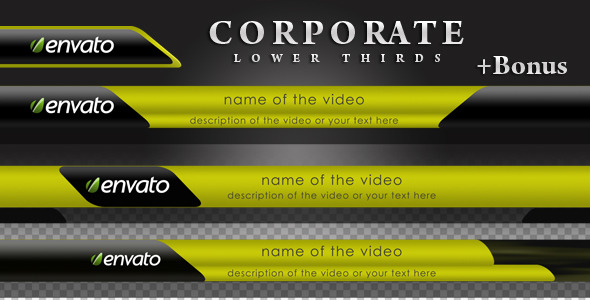 Corporate Lower Thirds