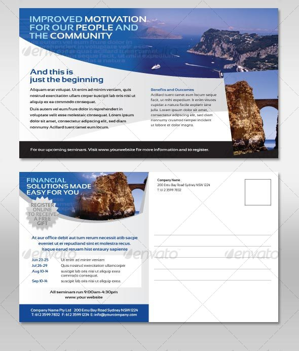 GraphicRiver Postcard Corporate Style Flyer 105411