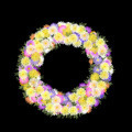 Daisies and petal multicolored folkart wreath - PhotoDune Item for Sale