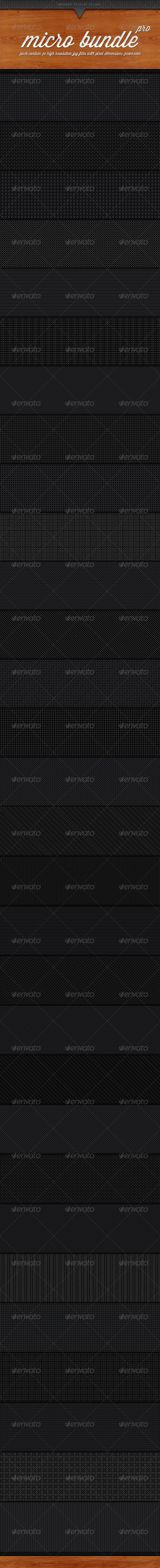 30 Micro Carbon Patterns Pro Bundle - Patterns Backgrounds