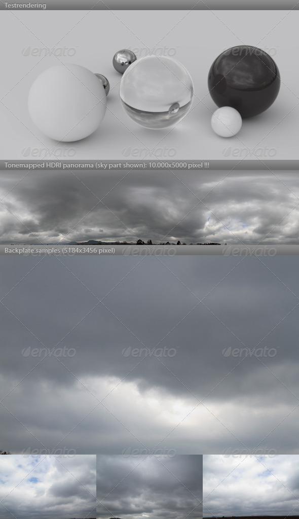 3DOcean HDRI spherical sky panorama 1400- gloomy & cloudy 2950250