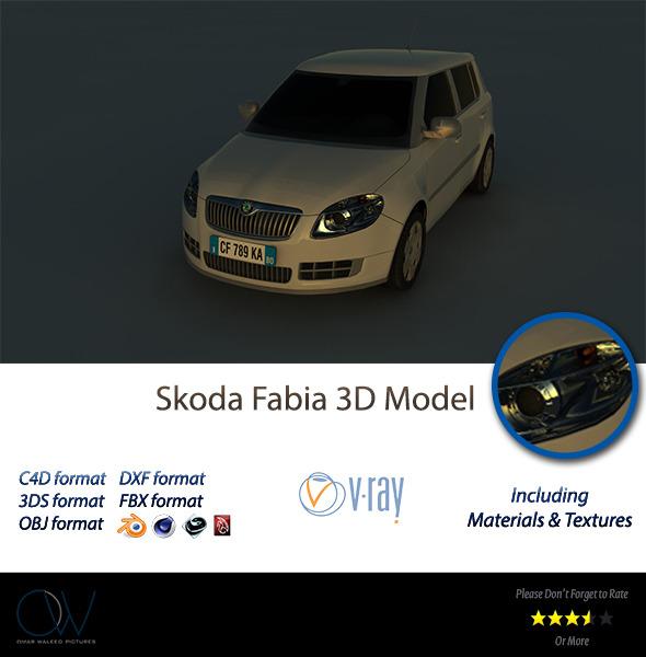 3DOcean Skoda Fabia 3D Model 2950316
