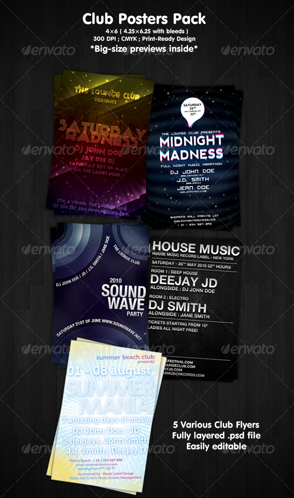 Club Flyers Pack - Clubs & Parties Events