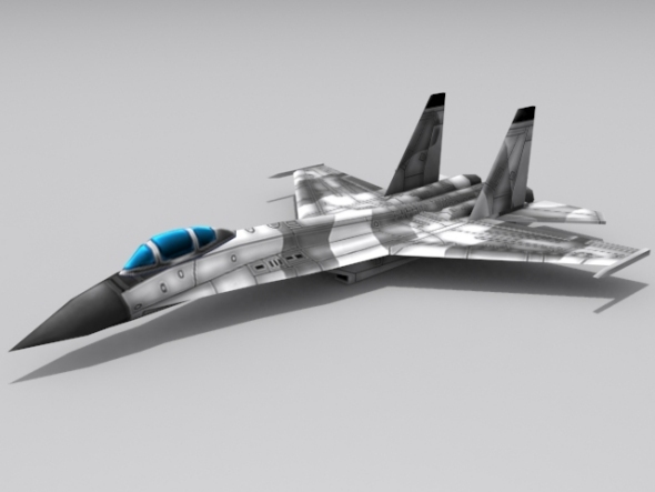 Su-30 Flanker - 3DOcean Item for Sale