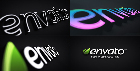 3D Logo Extrusion with Stroke and Color