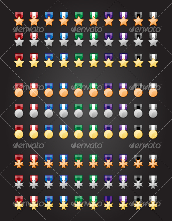 GraphicRiver 90 Medal Icons 79822