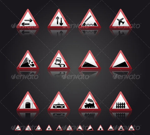 GraphicRiver UK Road Signs Warnings 2 57412