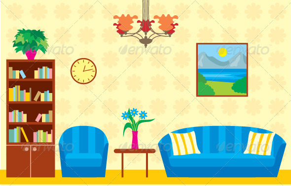 Living room graphicriver for Sala de estar animada