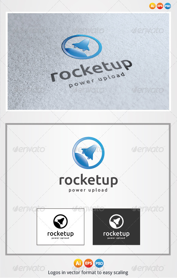 Rocket Up Logo - Objects Logo Templates