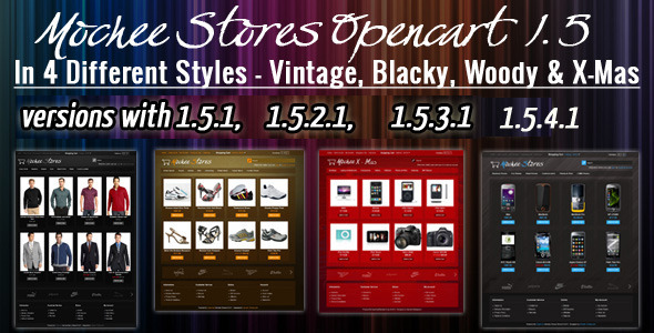 ThemeForest Mochee Stores Opencart 1.5 Template eCommerce OpenCart Fashion 500361
