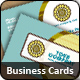 Clean and Professional Modern Retro Business Cards
