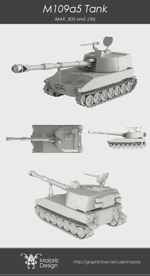 M109a5 Tank Infantry - 3DOcean Item for Sale