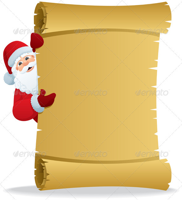 GraphicRiver Santa Scroll 2 2952480