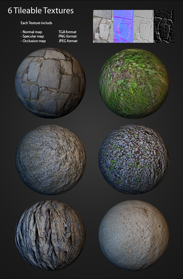 3DOcean Tileable texture pack 105528