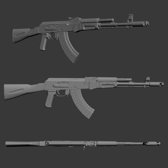 High Poly AK 103 - 3DOcean Item for Sale