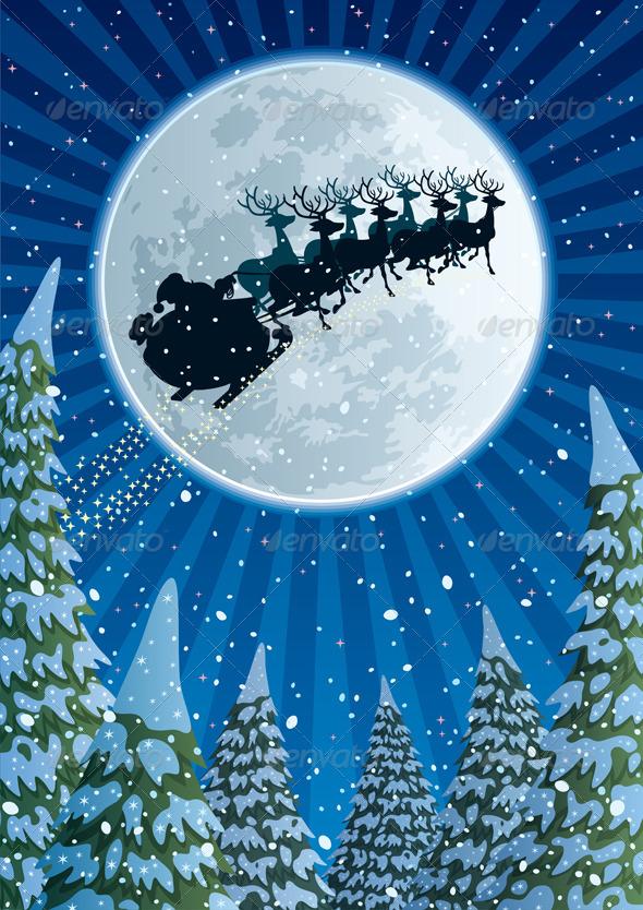 GraphicRiver Santa Sleigh 719741